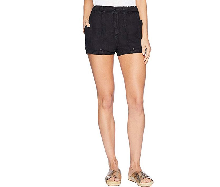 Women's Beacon Linen Utility Shorts, Black