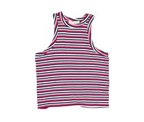 Pink Rose Women's Stripe Top, Rose/Navy