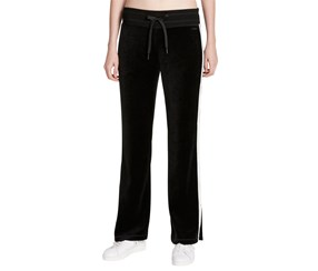 Calvin Klein Velour Track Pants, Black/Bare