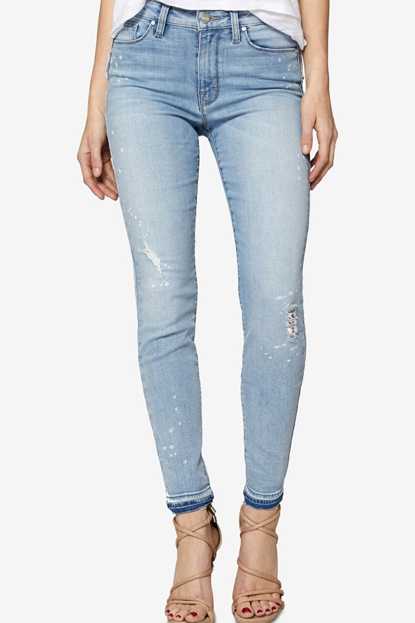 Released-Hem Skinny Jeans, Ava Paint