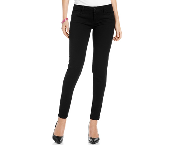 Celebrity Pink Juniors Women's Skinny Jeans, Black