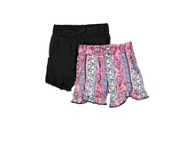 Kensie Toddler 2 Pack Shorts, Black Combo