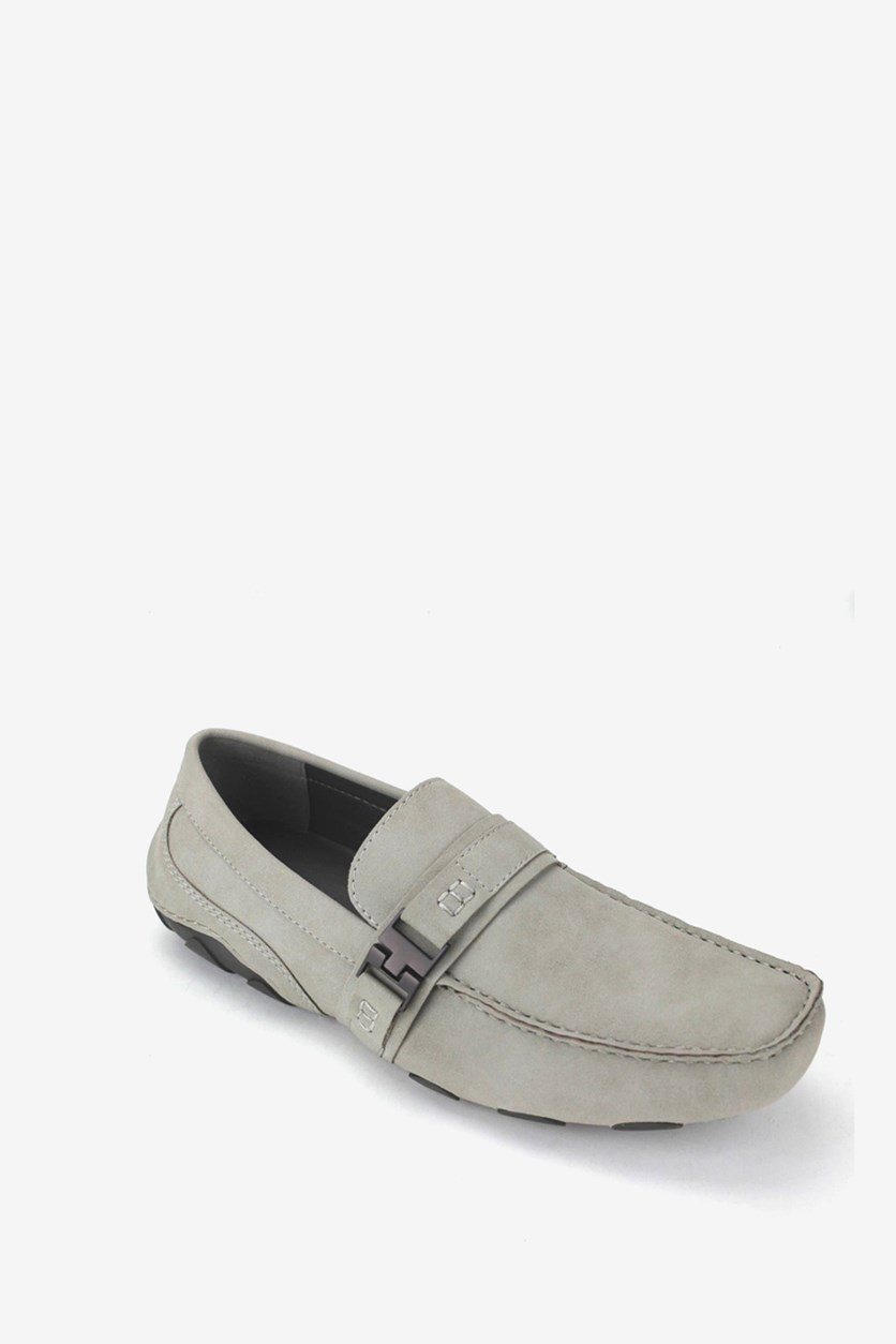 Mens Toast 2 Me Suede Chukkas Drivers, Light Gray