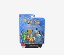 Tomy Pokemon Combat Random Pack of 3 Figurines, Green/Yellow/Blue