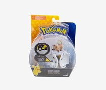 Tomy Pokemon Rockruff and Ultra Ball Figure, White/Brown Combo