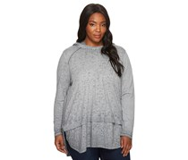 Jag Women's Plus Size Magna Hoodie in Burnout Jersey, Silver
