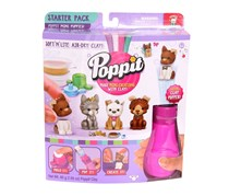 Poppit Starter Pack Mini Puppies, Purple/Pink