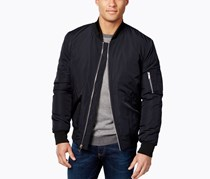 Vince Camuto Mens Lined Bomber Jacket, Navy