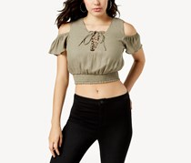 Guess Eloise Cold-Shoulder Crop Top, Warm Desert