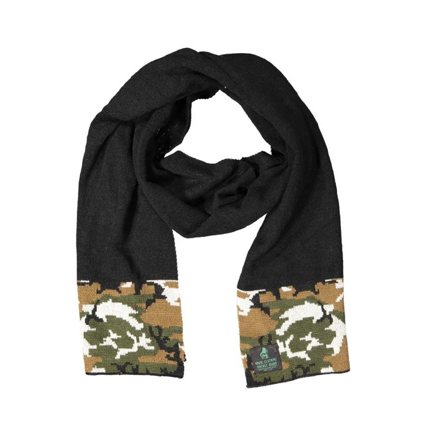 Men's Camouflage Scarf, Black/Camouflage