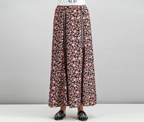 Foxiedox Women's Gloriette Floral Skirt, Black/Red Combo