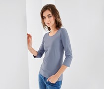 Women's Shirt With 3/4 Sleeves, Blue