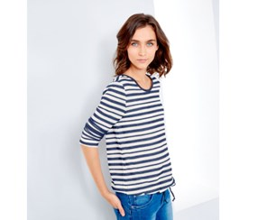 Women's Shirt Stripes Light, Blue/White