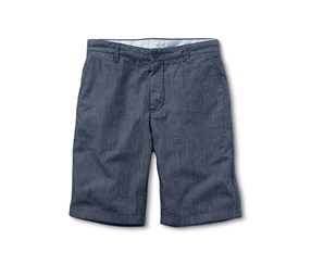 Men's Chambray Shorts, Navy Blue