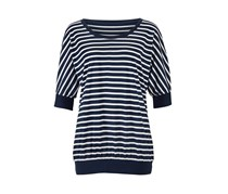 Women's Top with Short Sleeves, Navy Blue
