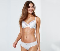 Women's Underwired Lace Bra, White.