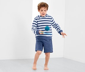Kids Boys Towelling Outfit, Blue