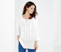 Women's Tunic With Embroidery, White