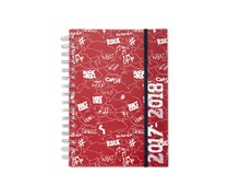 Personal Organizer Calendar for 18 Months, Red