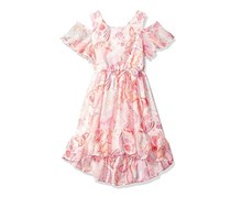 The Children's Place Girl's Printed Dress, Pink