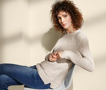 Women's Knitted Jumper, Beige