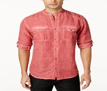 Inc International Concepts Men's Shirt Two Pocket, Banner Red