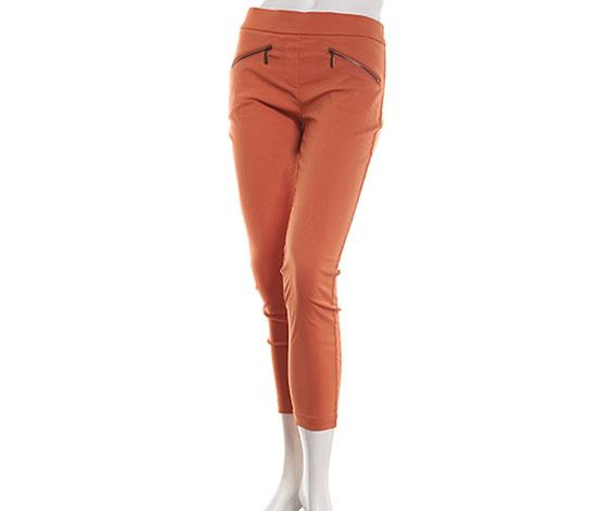Petite Emaline Istanbul Solid Stretch Pants, Brown