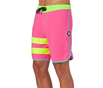 Hurley Men's Block Party Shorts, Fushia/Green