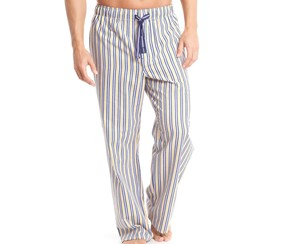 Papi Men's Seersucker Two-Tone Sleep Pant, Yellow/Navy