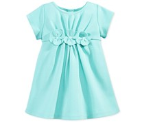 First Impressions Flower Dress Baby Girls, Aqua Haze