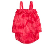 Splendid Tie Dye Romper, Red
