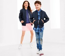 Kids Bomber Jacket, Navy Blue