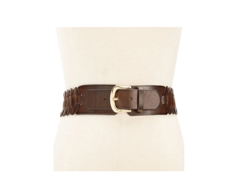 Braided Stretch Belt, Brown