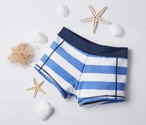 Kids Swimwear, White/Blue