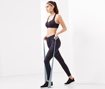 Women's Sports Tights, Navy Blue/Coral