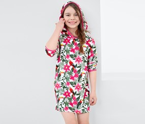 Girls Terry Dress, Multi Color