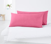2 percale Pillowcases 80 x 40 cm, Pink
