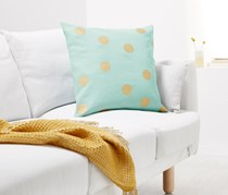 Decorative Cushion Cover 50 x 50 cm, Blue/Gold