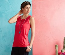 Women's Long Top, Coral
