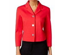 Tommy Hilfiger Women's Turn-lock Notch Collar Jacket, Red
