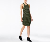 Chelsea Sky Striped Ruched Dress, Olive