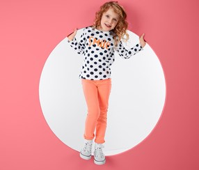 Girls Treggings, Orange