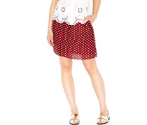 Maison Jules Printed A-Line Skirt, Maroon