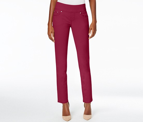 JAG Amelia Women's Cropped Skinny Pull-On Jeans, Winterberry