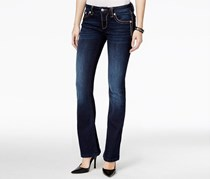 Miss Me Women's Faded Boot-cut Jeans, Blue