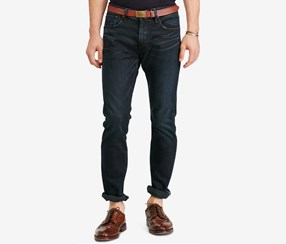 Polo Ralph Lauren Men's Big & Tall Hampton Straight-Fit Jeans, Navy