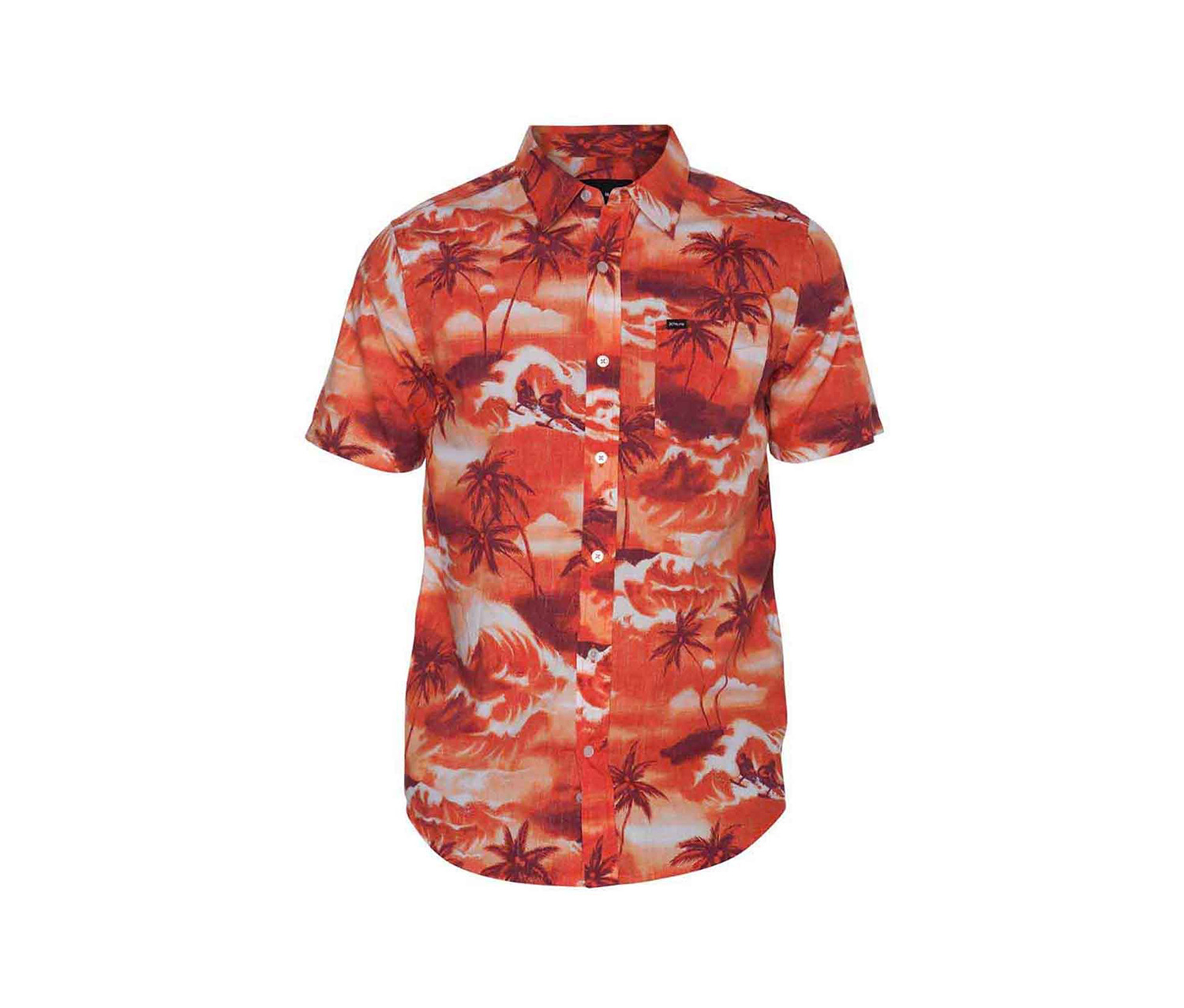 Hurley Men's Island Shirt, Orange