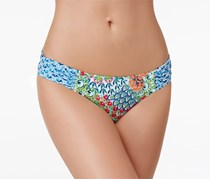 Profile Blush by Gottex Peacock Side Tab Bikini Bottom, Blue