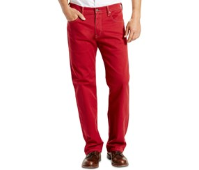 Levi's Men's 569 Loose-Fit Straight-Leg Jeans, Red