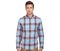Penguin Men's Plaid Woven Shirt, Blue/Orange